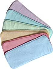 CHINMAY Kids® Wet-Free Microfiber Inserts Washable Microfiber Baby Cloth Diaper Inserts 3 Layers Each Insert for Diapers Pocket Mat Nappy Changing Liners (Set of 6 Multicolor)