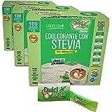 STEVIA Ecologica Natural Edulcorante granulado Dulcilight stevia 300 SOBRES CON PRACTICO DISPENSADOR, Producto SABOR Y CALIDA