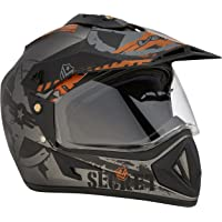 Vega Off Road D/V Secret Dull Anthracite Black Helmet-L