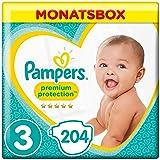 Pampers Premium Protection Größe3, 6–10kg, 204Windeln, Monatsbox