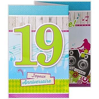 Afie 882106 Carte 3 Volets Joyeux Anniversaire 6 Ans