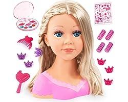 Bayer Design - Charlene Super Model, Busto muñeca para peinar y maquillar con accesorios, color/modelo surtido (B2890088)