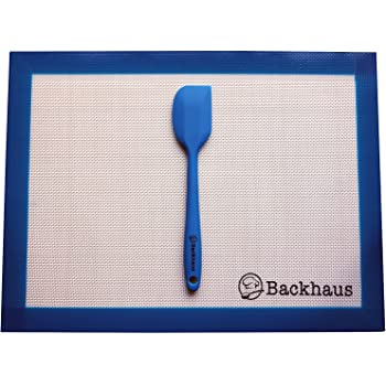 BACKHAUS FlexBake Tapis de cuisson anti-adhérent en Silicone Premium , Feuille à Pâtisserie 100% sans BPA & Spatule Maryse offerte | Garantie 5 ans | 40x30cm