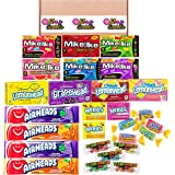 American Mixed Candy Sweets Gift Hamper | 27 Sweets Per Box | Mike & IKE, Nerds, Airheads, Jolly Ranchers and Ferrara Candy