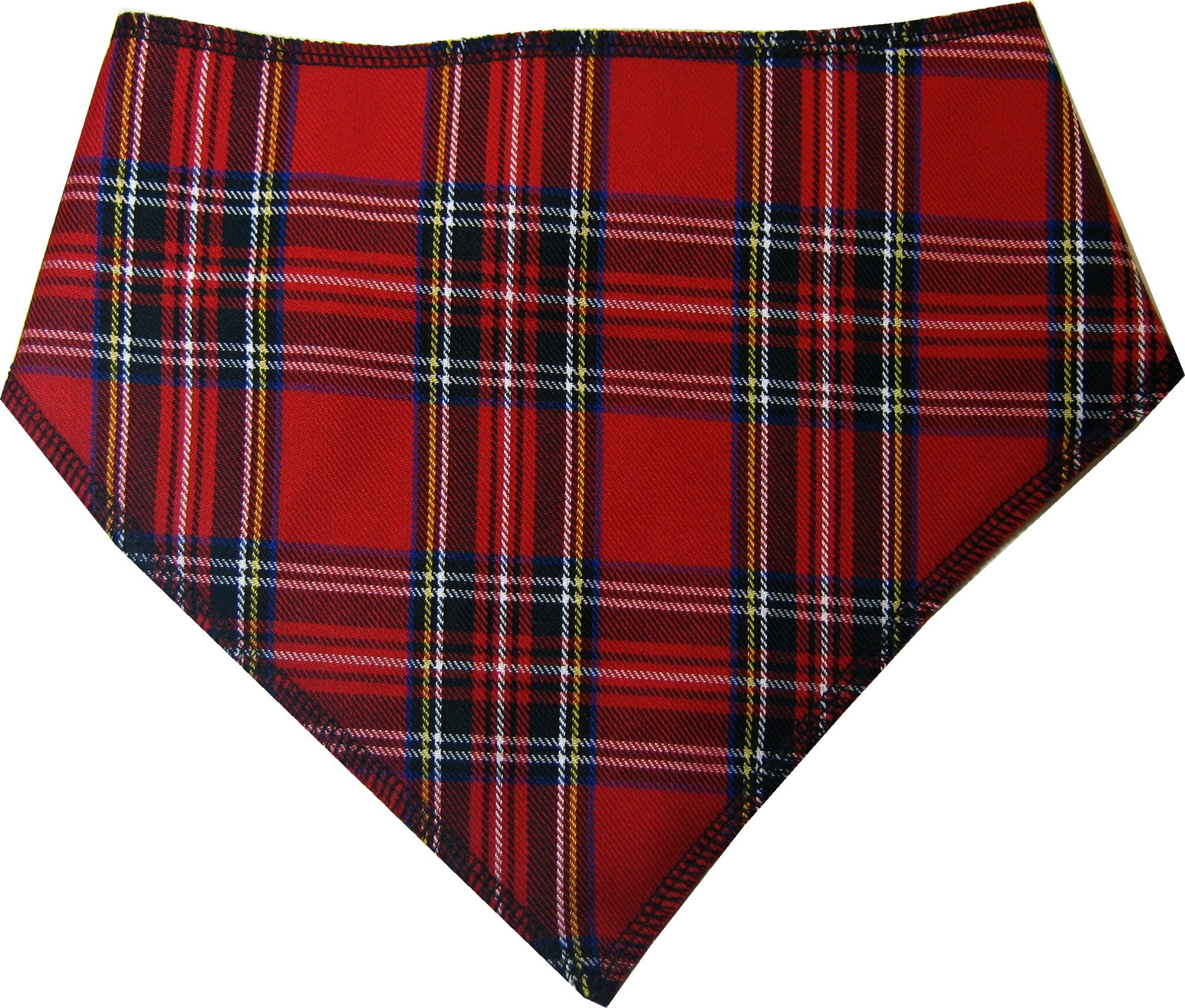Spoilt Rotten Pets (S4 RED Royal Stewart TARTAN Dog Bandana. Extra Large Size Generally Fits Rottweilers and St Bernard Sized Dogs. Neck Size 23″ to 28″ Gorgeous Range of Patterns & Colour.