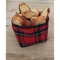 GIACALLON - Portapane tartan in cotone Fatto a Mano per il Pane tessuto tartan - Porta cialde oggetti frutta secca…