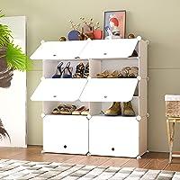 HOMEYFINE Armoire à Chaussures, Etagères Portables pour Chaussures, Cubes de Rangement Modulaires pour Economiser de l…