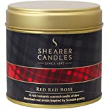 Shearer Candles Red Red Rose Large Scented Tartan Tin Candle - Ivory