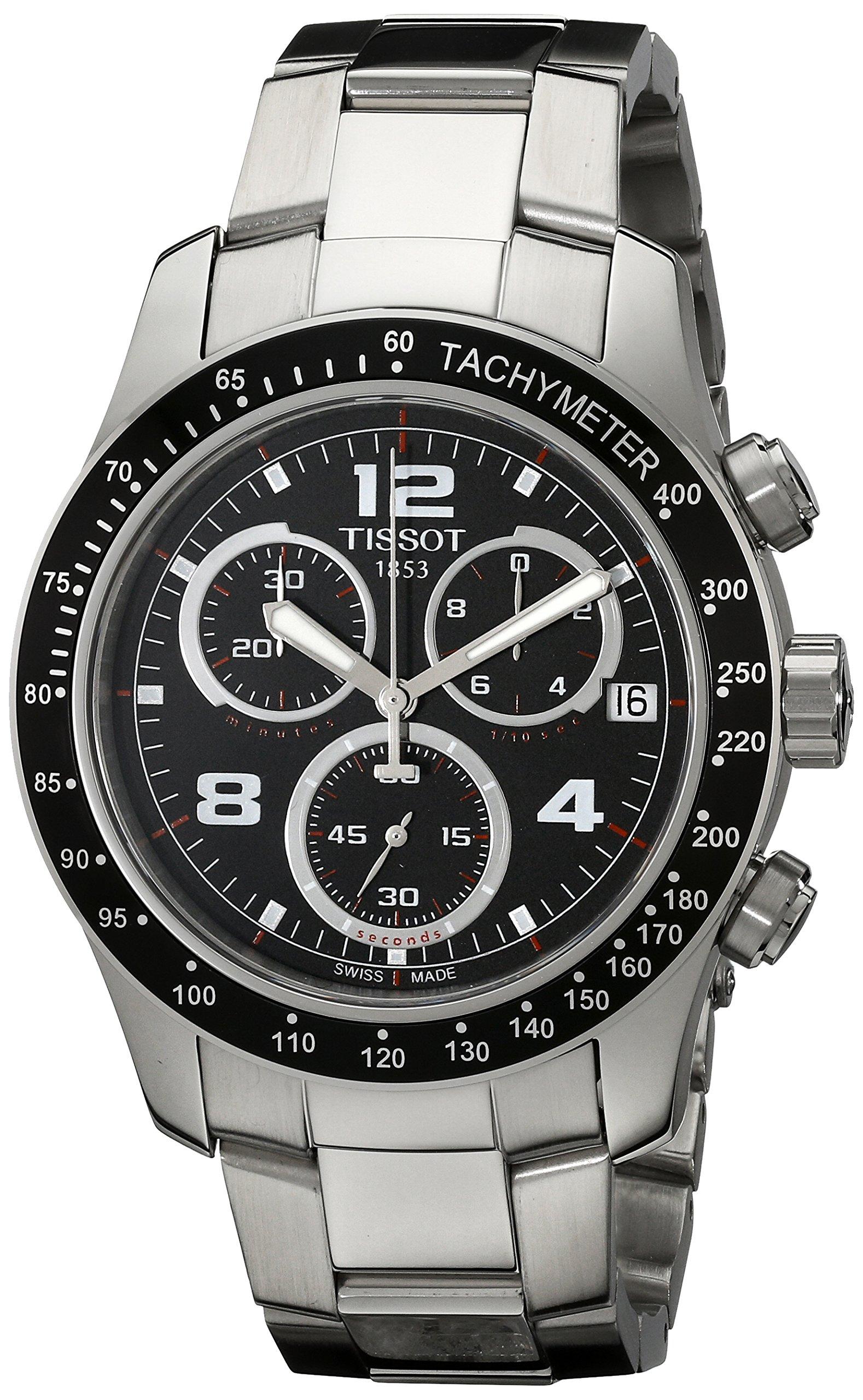 Tissot V8 – Reloj (Reloj de Pulsera, Masculino, Acero Inoxidable, Negro, Acero Inoxidable, Acero Inoxidable, Plata, Acero Inoxidable)