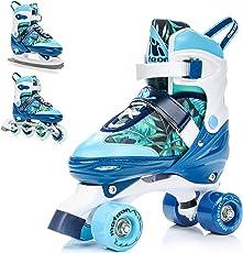 meteor 3in1 Inline-Skates - Rollschuhe - Schlittschuh - Kinder Damen Rollerskates Set - Dieser Schuh ist im Sommer als Inline-Skates Rollschuh -im Winter als Schlittschuh -S(31-34)-M(35-38)-L(39-42)