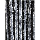 Moritz Horgordijn van chenille 56 x 185 cm donkergrijs - grijs deurgordijn als vliegenbescherming insectenbescherming voor ca