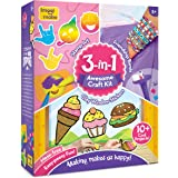 imagimake 3-in-1 awesome craft kit - creative toy and diy set for kids - 5 years and above- Multi color