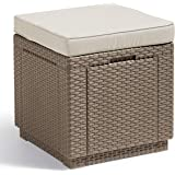 ALLIBERT Cube w Tabouret, Cappuccino/Sable (Polycoton Cushion)