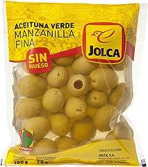 Jolca Aceitunas Manzanilla Verdes sin Hueso Bolsa, 180g