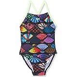 Speedo Girls' Tranquilfan Allover Digital Thinstrap Crossback Swimsuit