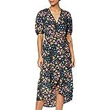 Marca Amazon - find. Vestido Midi Cruzado Mujer