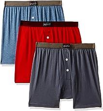 Dollar Bigboss Men's Solid Boxers (Pack of 3)