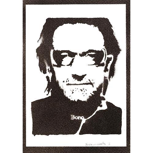 Poster Bono U2 Handmade Graffiti Street Art - Artwork