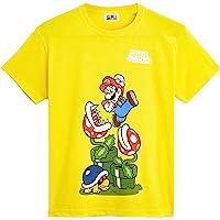 Super Mario Maglietta Bambino, T Shirt in Cotone per Ragazzo 4-12 Anni, Magliette A Maniche Corte, Abbigliamento…