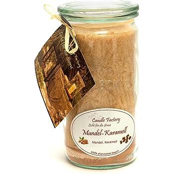 Candle Factory Duftkerze, 15 x 7 x 15 cm, mandel karamell