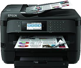 Epson C11CG37412 WorkForce WF-7720DTWF 4-in-1 Business-Multifunktionsgerät Tintenstrahl (drucken, scannen, kopieren, faxen, Ethernet, NFC, Full Duplex, Einzelpatronen, bis DIN A3 Plus, 2 Papierkassetten) schwarz