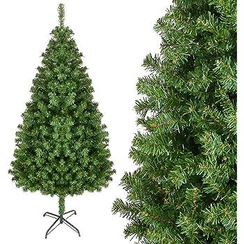 Künstlicher Tannenbaum Für Draußen.Homfa 195cm Künstlicher Weihnachtsbaum Tannenbäume Christbaum Mit Metallständer 1000 Spitzen Schwer Entflammbare Materialien Außen Innen