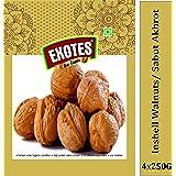 Exotes Premium Dry Fruits (Inshell Walnut/ Sabut Akhrot), 1000 g (Pack of 4x250grams)