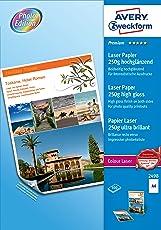 Avery Zweckform 2498 Premium Colour Laser Papier (A4, beidseitig beschichtet, hochglänzend, 250 g/m²) 100 Blatt