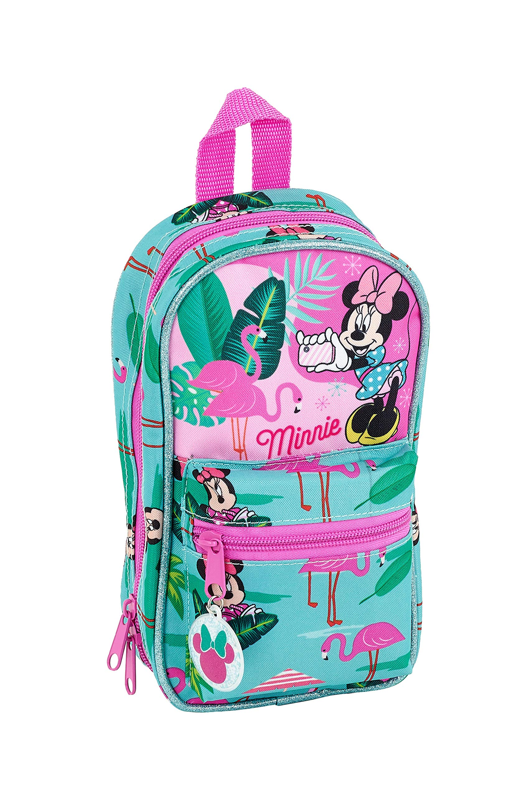 Minnie Mouse «Palms» Oficial Neceser Con 4 Estuches y útiles 120x50x230mm