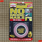 UniBond No More Nails On A Roll, Double-Sided Tape for Reliable Instant Bonding, Multipurpose Adhesive Tape, Adhesive Strips for Indoor/Outdoor Use, 19mm x 1.5m Roll