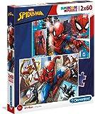 Clementoni 21608 Clementoni-21608-Supercolor Puzzle-Spiderman-2 x 60 Teile, Mehrfarben