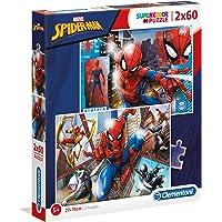 Clementoni- Supercolor Puzzle-Spider-Man-2 x 60 piéces- 21608