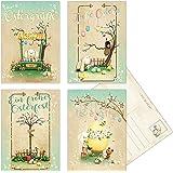 20 Osterkarten, Postkarten zu Ostern, 4 verschiedene Designs, Oster-Postkarten, 14,8 x 10,5 cm