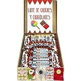 Lote Chocolates Kinder y Chuches Especial Regalo. La Caja Contiene 30 Chocolates Kinder y 5 Bolsas de Chuches de Cumpleaños.