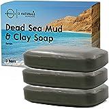 O Naturals Jabón Barro Mar Muerto con Arcilla Verde Natural Facial Cuerpo y Manos Limpieza Exfoliante Vegano Detox Para Acné