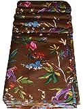 MUDIT CRAFTS Cotton Jaipuri Hand Block Printed Dress Making Running Fabric (3. MTR_Brown)