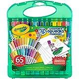 CRAYOLA - Set Pennarelli Lavabili per Bambini, Valigetta con 25 pennarelli lavabili e fogli per disegnare, 65 pezzi