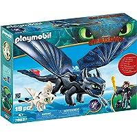 Playmobil Krokmou et Harold avec bébé Dragon, 70037