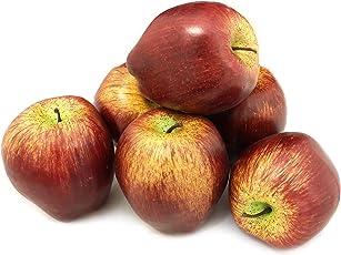 ALEKO 6AFDAP Decorative Realistic Artificial Fruits, Delicious Apples, 6 Piece