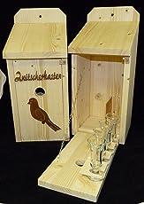 Vogelhaus Schnapsbar Zwitscherkasten mit Vogelmotiv