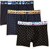 JACK & JONES JACHENRIK Trunks 3 Pack Noos Bóxer, Multicolor (Black Detail: Navy Blazer), Large para Hombre