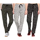 SHAUN Women's Regular Fit Trackpants (Pack of 3)