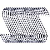 Swatowot Set van 30 S-vormige haken om op te hangen, 9 cm, voor keuken, badkamer, slaapkamer en kantoor (zilver)