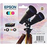 Epson Multipack inktinkt in 4 kleuren 502 / inktpatronen (origineel, pigmentinkt, zwart, cyaan, magenta, geel, Epson, 4 stuks