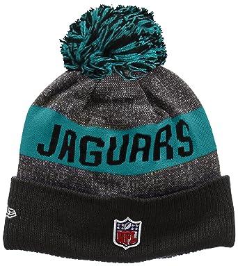 51ff9c7de2d New Era Men s NFL Sideline Bobble Knit Jacksonville Jaguars Beanie ...