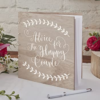 Ginger Ray Wooden Wedding Guest Book - Boho: Ginger Ray: Amazon.co ...