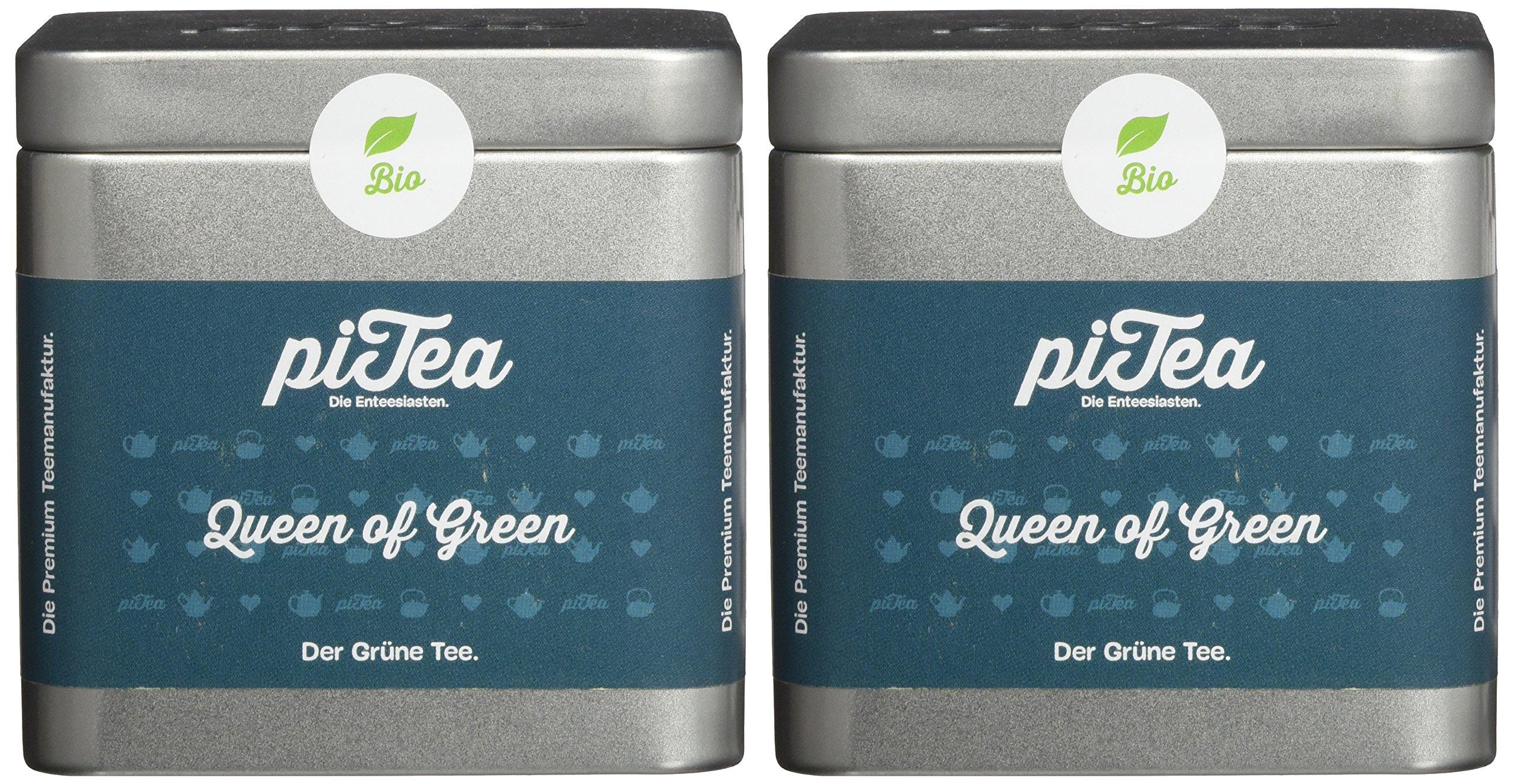 Pi-Tea-Queen-of-Green-Dose-Grner-Tee-Bio-Teestation-natrlich-und-vegan-2er-Pack-2-x-75-g