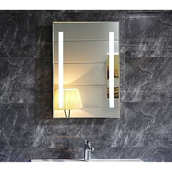 Dr. Fleischmann LED-Beleuchtung Badspiegel Badezimmerspiegel GS055N ...