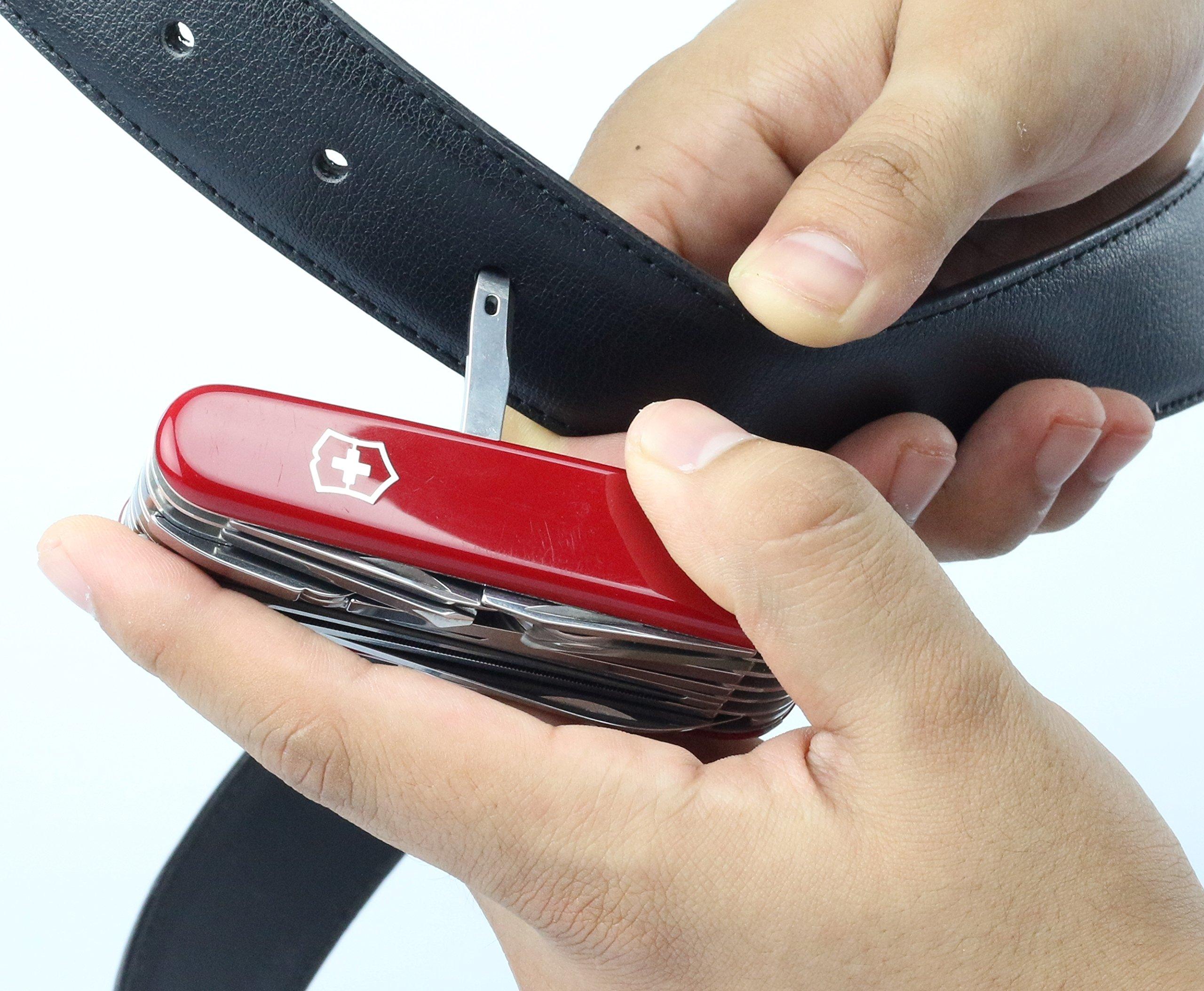 Victorinox Taschenwerkzeug Offiziersmesser Swiss Champ Rot Swisschamp Officer's Knife, Red, 91mm 17
