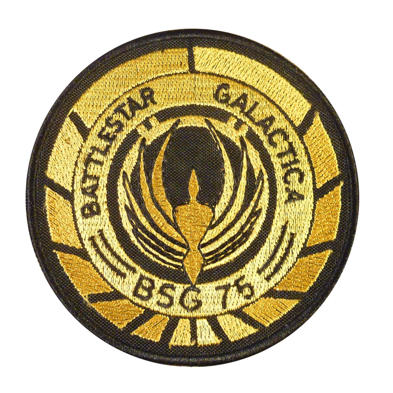 Battlestar Galactica BSG 75 Officer Shoulder Golden Ricamata Ricamo Fastener Toppa Patch